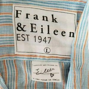 Frank & Eileen Shirts - Frank&Eileen Linen Button Down Long Sleeve Striped
